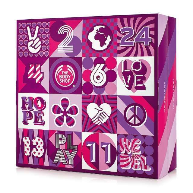 calendrier avent the body shop 55€