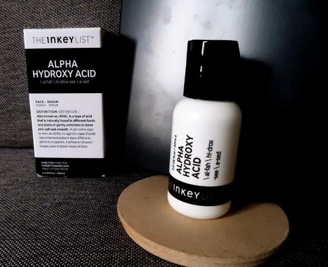the inkey list serum alpha hydroxy acid